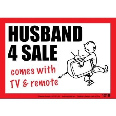 Fun Sign F121B - Husband 4 Sale
