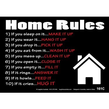 Fun Sign F161C - Home Rules