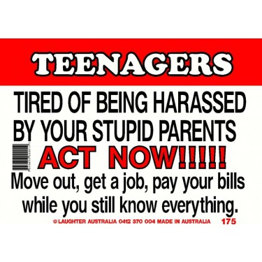 Fun Sign 175 - Teenagers