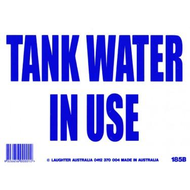Fun Sign 185B Tank Water in Use