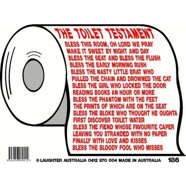 Fun Sign 186 - The toilet testament