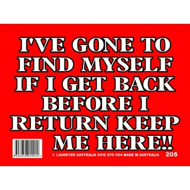 Fun Sign 205 - Find myself