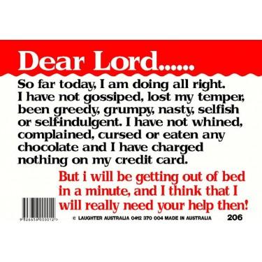 Fun Sign 206 - Dear Lord