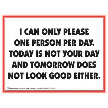 Fridge Magnet 768 - Today is not your day