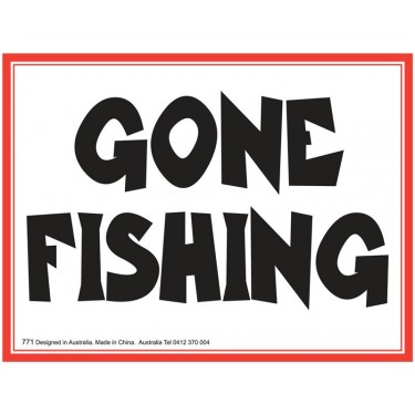 Fridge Magnet 771 - Gone fishing