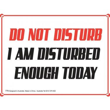 Fridge Magnet 779 - Do not disturb