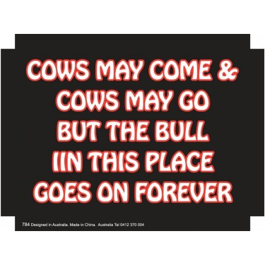 Fridge Magnet 784 - Cows may come