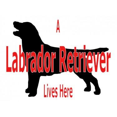 Pet Sign P116 - A Labrador Retriever Lives Here