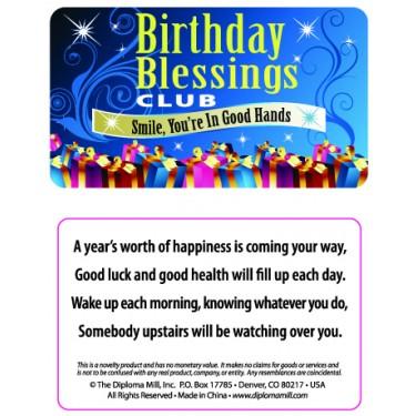 Pocket Card PC004 - Birthday blessings club
