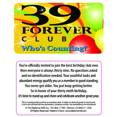 Pocket Card PC010 - 39 forever club