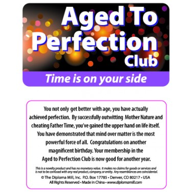 Pocket Card PC011 - Aged to perfection club