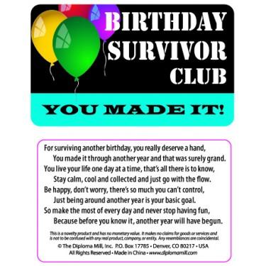 Pocket Card PC012 - Birthday survivor club