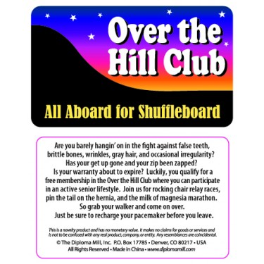 Pocket Card PC014 - Over the hill club