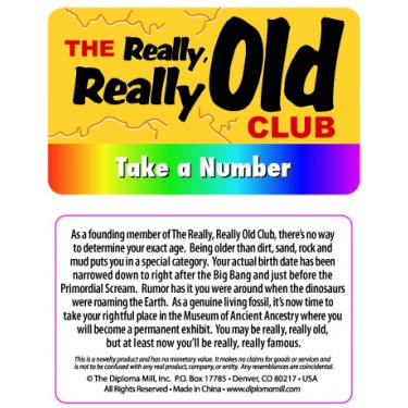 Pocket Card PC015 - The really old club
