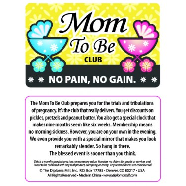 Pocket Card PC022 - Mum to be club