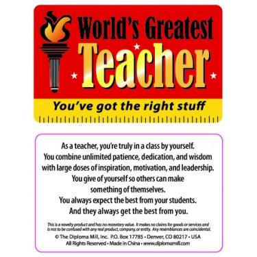 Pocket Card PC025 - Worlds Greatest Teacher