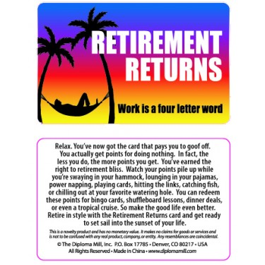 Pocket Card PC027 - Retirement Returns