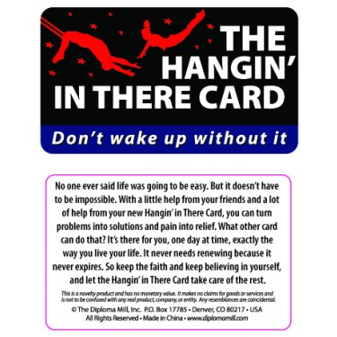 Pocket Card PC029 - The Hangin' in There Card Card