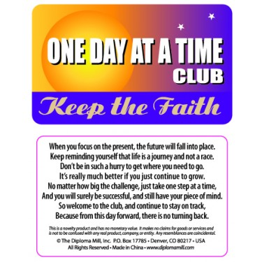 Pocket Card PC031 - One day at a time club