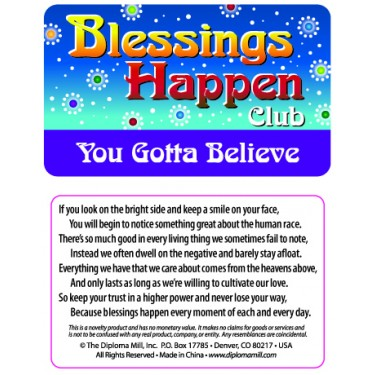 Pocket Card PC032 - Blessings happen club
