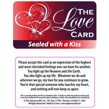 Pocket Card PC034 - The love card
