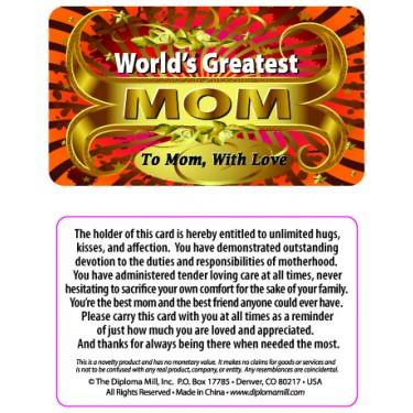 Pocket Card PC037 - Worlds greatest Mum