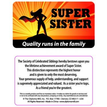 Pocket Card PC039 - Super sister