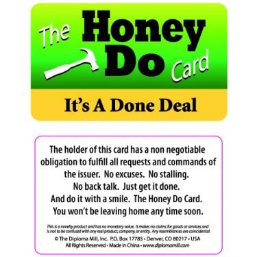 Pocket Card PC042 - The honey do card