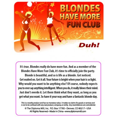 Pocket Card PC044 - Blondes have more fun club