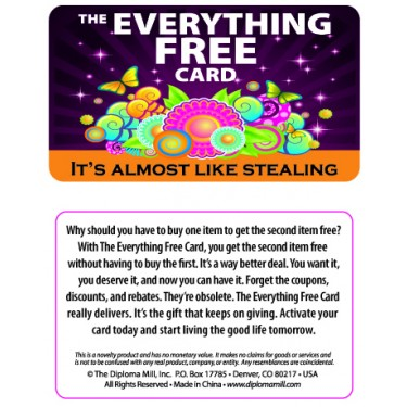 Pocket Card PC046 - The everything free card