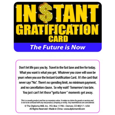 Pocket Card PC048 - Instant gratification card