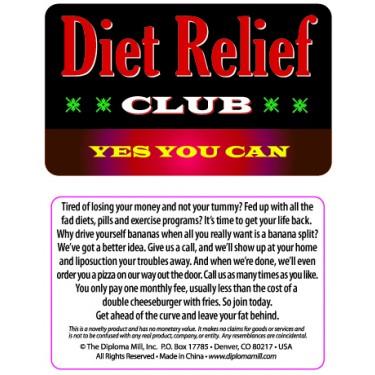 Pocket Card PC049 - Diet relief club