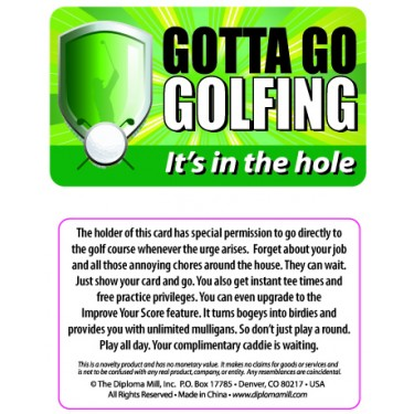 Pocket Card PC050 - Goota go golfing