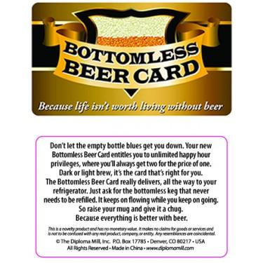 Pocket Card PC051 - Bottomless beer card