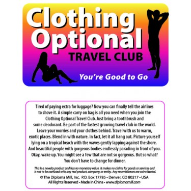 Pocket Card PC056 - Clothing optional travel club