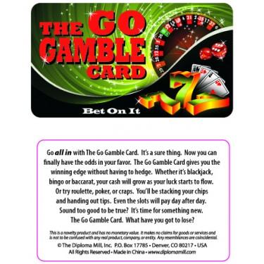 Pocket Card PC057 - The go gamble card