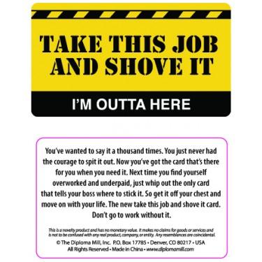 Pocket Card PC058 - Take this job and shove it