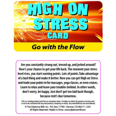 Pocket Card PC062 - High on stress card