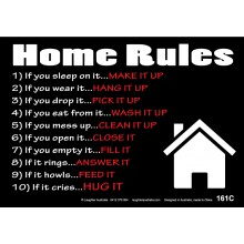 Fun Sign F161C - Home Rules