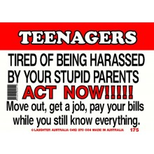 Fun Sign 175 - Teenagers