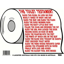 Fun Sign 186 - The toilet testament