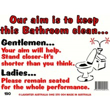Fun Sign 190 - Keep this bathroom clean