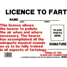 Fun Sign 195b - License to fart