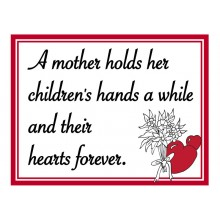 Fridge Magnet 705 -  A mother holds her children's hand
