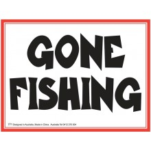 Fridge Magnet 771 - Gone fishing