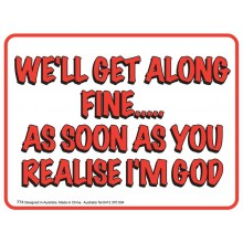 Fridge Magnet 774 - I'm God