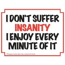 Fridge Magnet 776 - Insanity