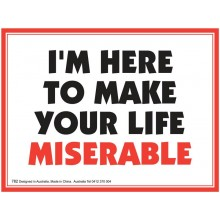 Fridge Magnet 782 - Miserable