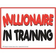 Fridge Magnet 787 - Millionaire in training