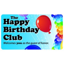 Pocket Card PC001 - The Happy Birthday Club